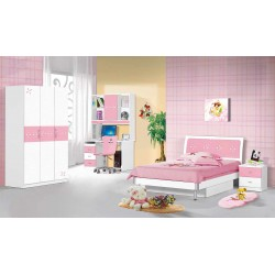 Rosy Bedroom Set 107x 190 cm Pink MDF