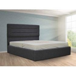 Tenessee Bed 150x190 cm Light Grey fabric