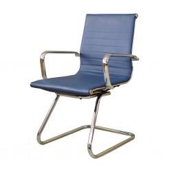 Verona Visitors Chair Chrome Semi Leather Model ALU 04
