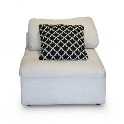 Lotus 1 Seater Armless Chair Cream Col Fabric