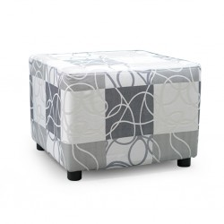 Picasso Ottoman Pattern Grey Fabric