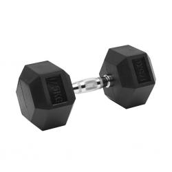Black Rubber Hex Dumbbell  Set 17.5kg