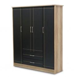 Torva Wardrobe 4 Doors Summer Oak+D.Grey PB