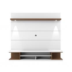 Axel High TV Cabinet White Gloss/Natural PB