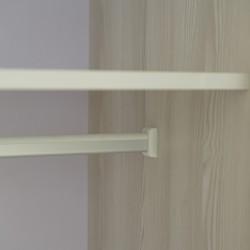 Elsa Wardrobe 2 Doors With Hanger MDF Grey