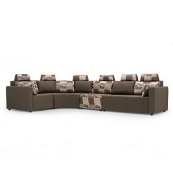 Picasso Sofa Corner in Brown Fabric