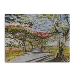 Canvas Painting 80x60cm Mont Choisy Flamboyant