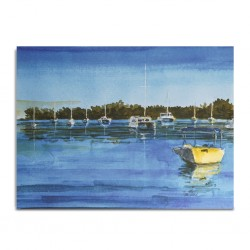 Canvas Painting 80x60cm Grand Bay Harbour