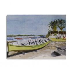 Canvas Painting 80x60cm Mahebourg Pirogue