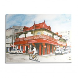 Canvas Painting 80x60cm Port-Louis China Town