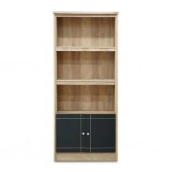 Rimini Bookshelf 2 Doors+3 Tiers Summer Oak+D.Grey