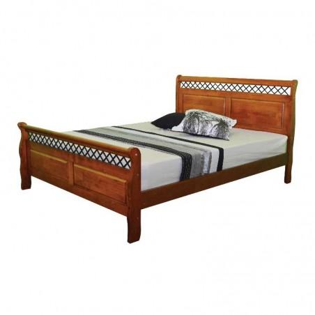 Saturn Bed 137x190 cm Oak Solid Wood