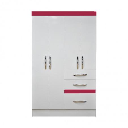 Tamis Wardrobe 4 Doors White PB