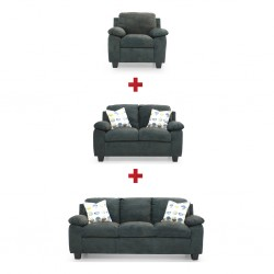 Oliver 3 Seater+2 Seater+Accent Chair Molly Sproc Fabric
