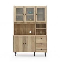 Rivoli Kitchen Cabinet 5 Doors Summer Oak PB