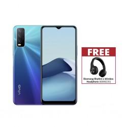Vivo Y20 Nebula Blue & Free Riversong Rhythm-L Wireless Headphone