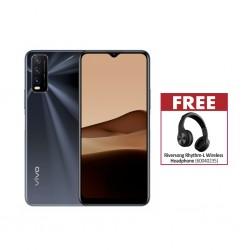Vivo Y20 Obsidian Black & Free Riversong Rhythm-L Wireless Headphone