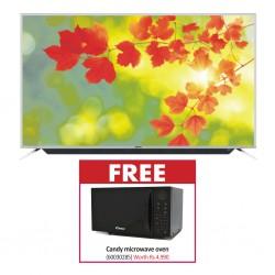 Myros 55'' DSU-559000ALM 55'' 4K Smart TV & Free Candy CMW25STB19F Microwave Oven