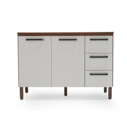 Ametista Kitchen Cabinet 2 Drs+3 Drwrs Off White