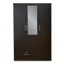 Crista Wardrobe 3 Doors Choco PB