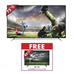 """JVC LT-75N775M 75"""" UHD DVB-T2 SMART TV & Free JVC LT-42N750M 42"""" FHD DVB-T2 SMART TV"""