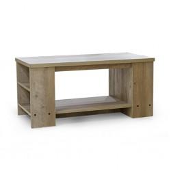 Aqua Coffee Table Rustic Oak Particle Board