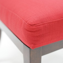 Gianna Accent Chair Ruby Colour Fabric