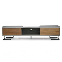 Albany Low TV Cabinet Walnut Color