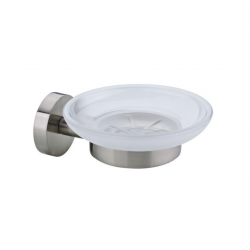 Diplomat Soap Holder With Round Glass (Satin) SUS 304 Stainless Steel 62203