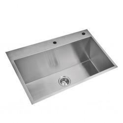 Sink Inox Rectangular Single Bowl H681-80X40X25 cm