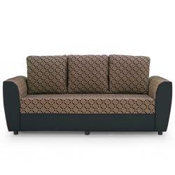 Elsa Sofa 3+2+1 Black W/Beige Pattern Fabric S7-4