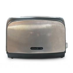Concetto CT-836 2 Slice Black & S/Steel Toaster