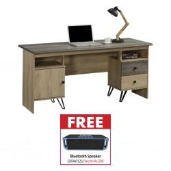 Ebony Office Table PB & Free Bluetooth Speaker BT-A2DP