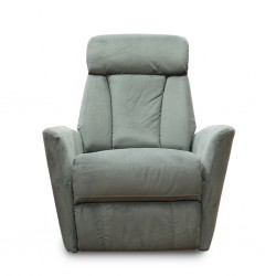 Glide One Seater Recliner Grey Fabric