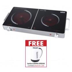 Sanford SAN403 SF51941IC Infrared 2YW Cook Top & FREE Sanford SAN443 SF855EK 2YW Kettle