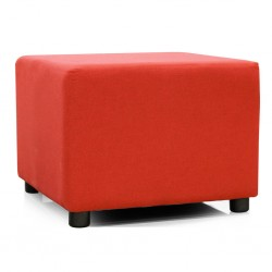 Picasso Ottoman in Plain Red Fabric