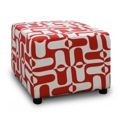 Picasso Ottoman Pattern Red Fabric