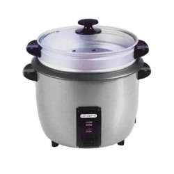 Concetto CRC280 2.8L Silver Rice Cooker + Steamer