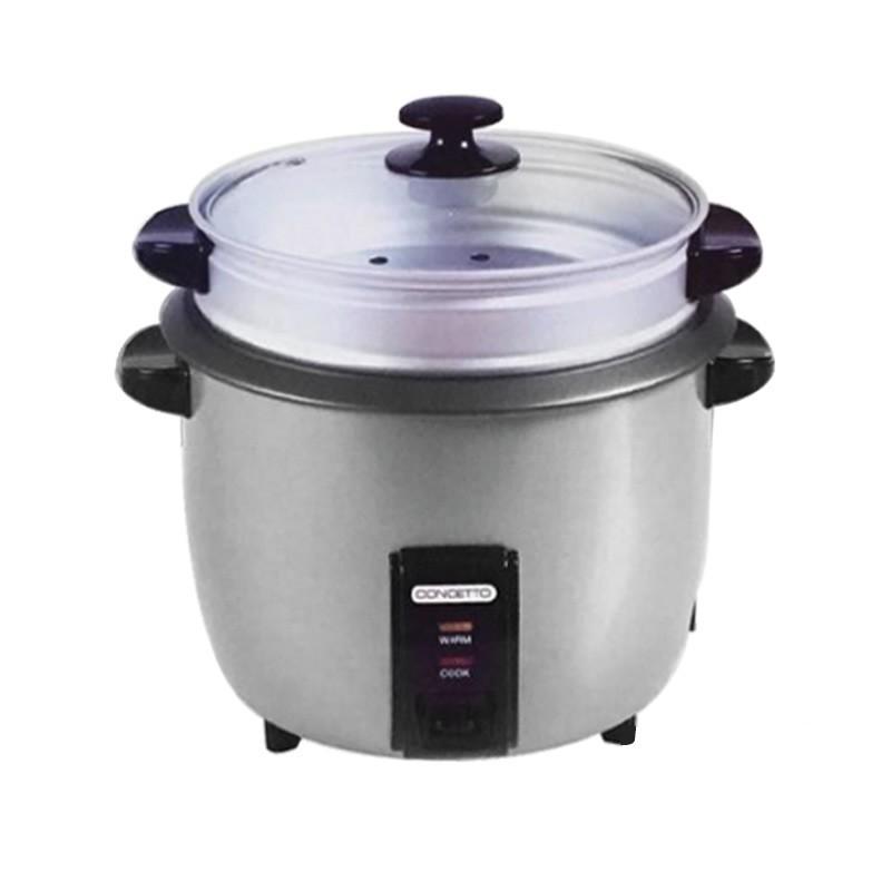Concetto CRC280 2.8L Silver Rice Cooker + Steamer