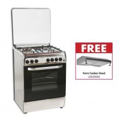 Euroline 6312NEI Cooker & Free Ferre Classico 60 Inox Cooker Hood