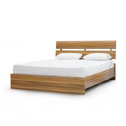 Atlante Bed 150x190 cm MDF Oak