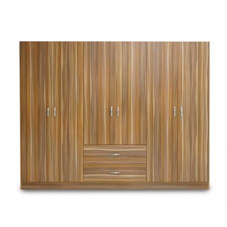 Atlante Wardrobe 6 Doors MDF Oak