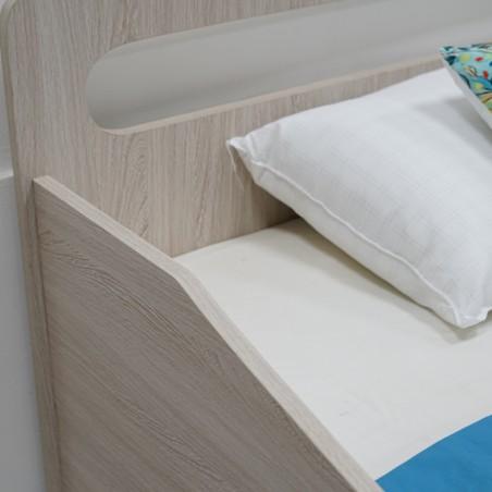 Scoop Bed 90x190 cm MDF Wash Oak