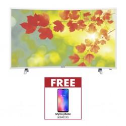 Myros DSUC-559000 AP 55'' 4K Curved Smart TV & Free Myros Smartphone E70