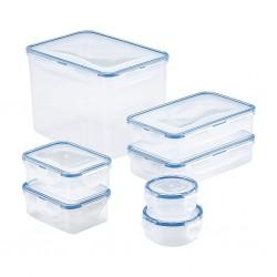 "Lock & Lock HPL829SF07 7pcs Rectangle Container Gift Set(100ml,140ml,3900ml,350mlx2,800mlx2) HC239 ""O"""