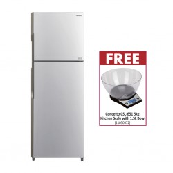 Hitachi R-H270PRU7-BSL Refrigerator & Free Concetto CSL-651 5kg Kitchen Scale With 1.5L Bowl