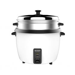 Sharp KS-H288S-W3 2.8L Rice Cooker + Steel Lid + Steamer