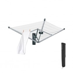 """Brabantia 375842 24m M.Grey WallFix With Protection Cover 5YW """"O"""""""