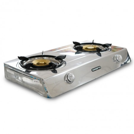 Concetto CG-2037 S/Steel Double Burner Gas Stove
