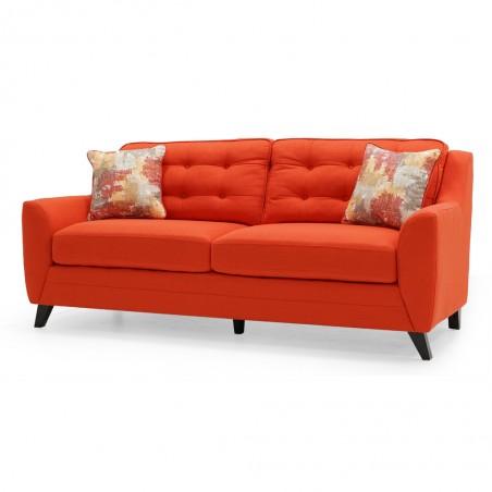 Carbini 3+2 Sofa in Fabric Tangelo Colour